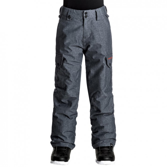 Pantalone snowboard Quiksilver Porter Bambino grigio