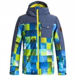 Giacca snowboard Quiksilver Mission Block Bambino blu