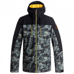 Snowboard jacket Quiksilver Mission Block Man black
