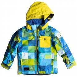 Veste snowboard Quiksilver Little Mission Baby bleu