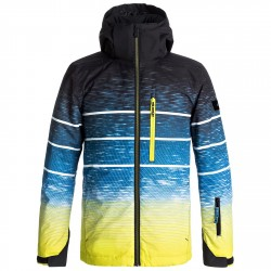 Snowboard jacket Quiksilver Mission Engineered Boy blue-yellow