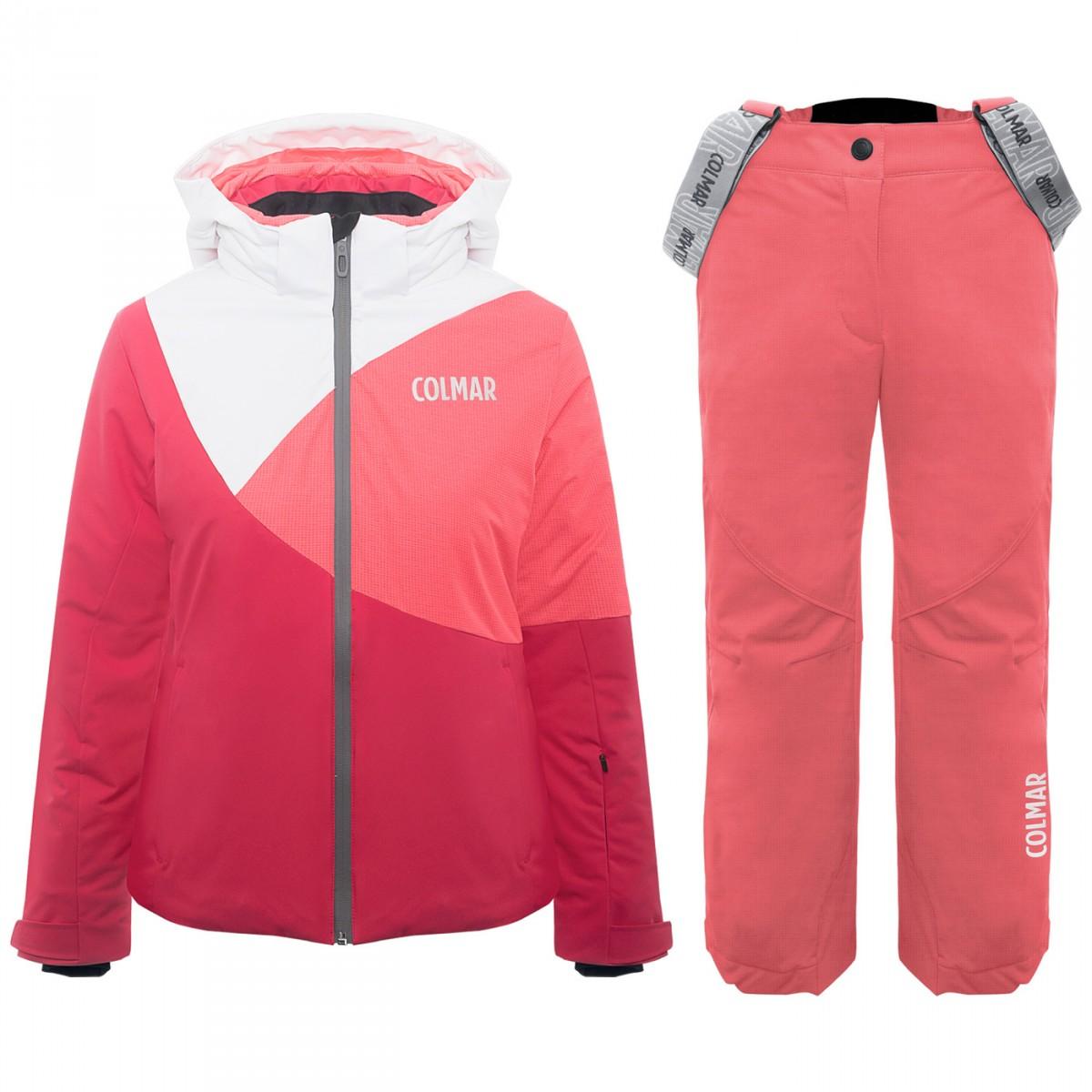 3123s col 124 completo neve bambina colmar sci jr giacca pantalone mod 3123c
