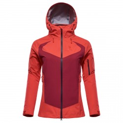 Mountaineering jacket Black Yak Gore-Tex C-Knit Woman coral