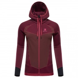 Mountaineering fleece Black Yak Silhouette Woman burgundy