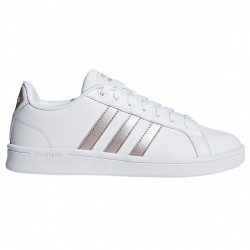 Sneakers Adidas Cloudfoam Advantage Donna bianco-rosa