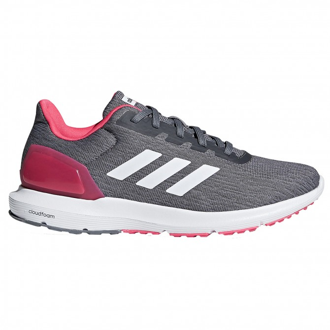 chaussure adidas femme grise et rose