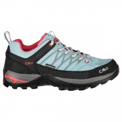 Zapato trekking Cmp Rigel Low Waterproof Mujer azul claro
