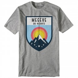 T-shirt My Mountains Megève Ski Resorts Uomo