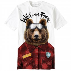 T-shirt My Mountains Wild and Free Homme