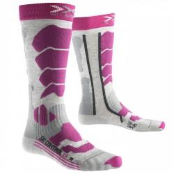 Calcetines esquí X-Bionic Control 2.0 Mujer gris-violeta