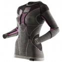 Maglia intima X-Bionic Apani Merino Donna grigio-rosa