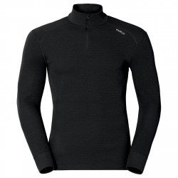 Baselayer Odlo Warm Half Zip Man black
