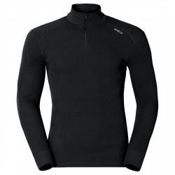 Jersey lingerie Odlo Warm Half Zip Homme noir