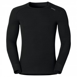 WARM SHIRT L/S CREW NECK - BLACK