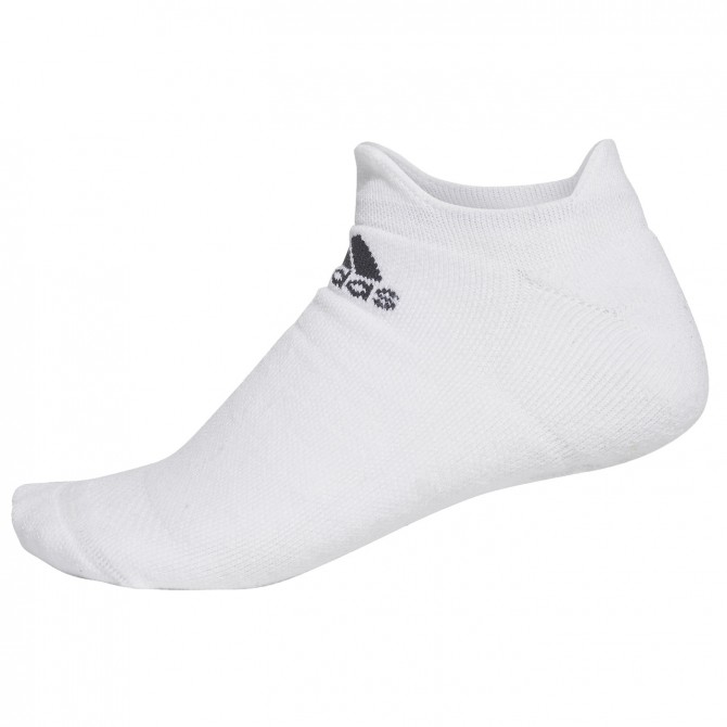 Calcetines Adidas Alphaskin Maximum Cushioning No-Show blanco