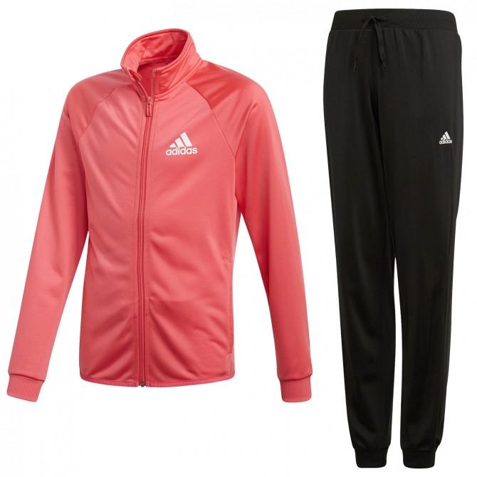 Tuta ginnastica Adidas Entry Bambina rosa-nero