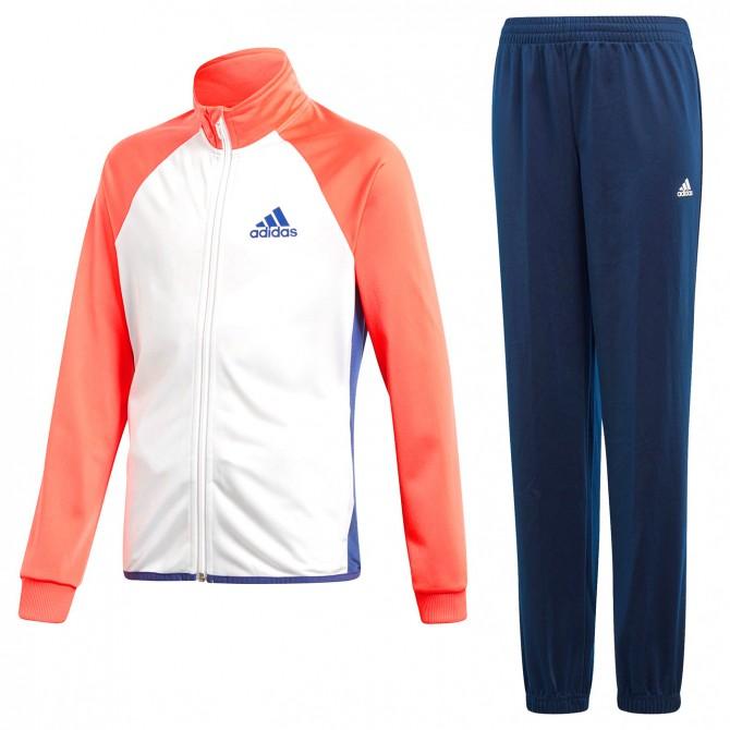 Chándal Adidas Entry Niña blanco-azul-coral