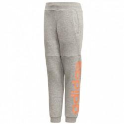 Pantalón Adidas Linear Niña gris-rosa