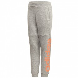 Pantaloni tuta Adidas Linear Bambina grigio-pesca