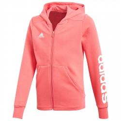 Sweatshirt Adidas Little Kids Ful Zip Girl pink