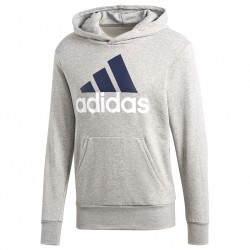 Felpa Adidas Essentials Linear Uomo grigio