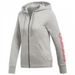 Felpa Adidas Essentials Linear Donna grigio