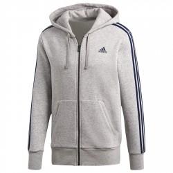 Felpa Adidas Essentials 3-Stripes Uomo grigio