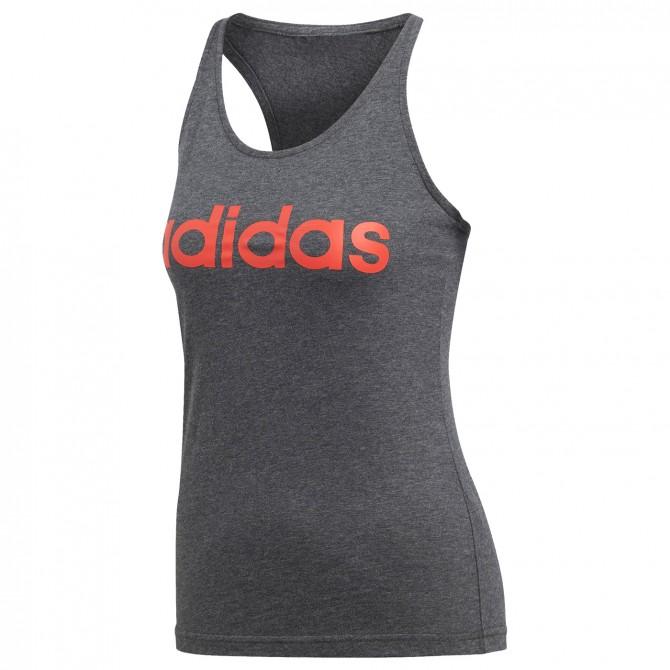 timeless design 6e495 868f9 Débardeur Adidas Essentials Linear Femme gris