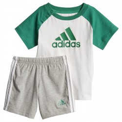 Conjunto Adidas Mini blanco-gris-verde