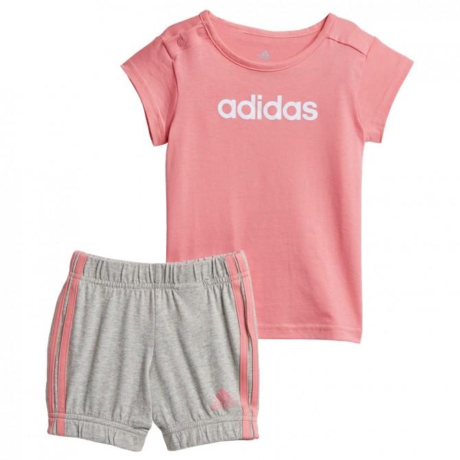 Conjunto Adidas Summer Easy rosa-gris