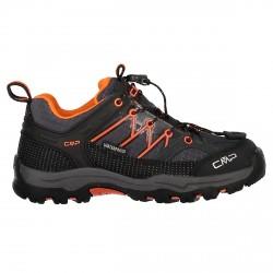 Zapato trekking Cmp Rigel Low Junior gris-naranja