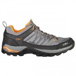 Zapato trekking Cmp Rigel Low Waterproof Hombre gris-naranja