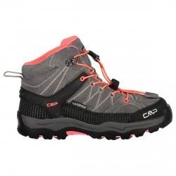 Zapato trekking Cmp Rigel Mid Mujer gris-coral