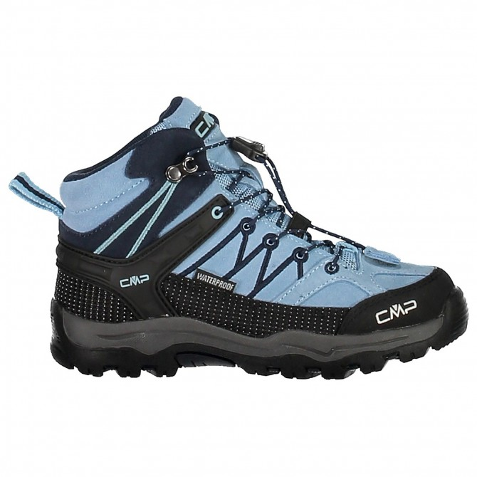 Zapato trekking Cmp Rigel Mid Junior azul claro