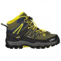 Zapato trekking Cmp Rigel Mid Junior verde-amarillo