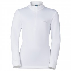 SNOWBIRD KIDS MIDLAYER 1/2 ZIP - WHITE