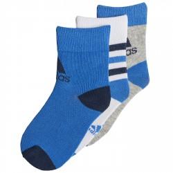 Calcetines Adidas Junior blanco-azul-gris