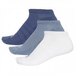 Calcetines Adidas 3-Stripes No-Show Junior azul-blanco-indigo