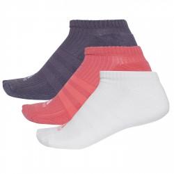 Calcetines Adidas 3-Stripes No-Show Mujer rosa-blanco-violeta