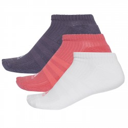 Calze Adidas 3-Stripes No-Show Donna rosa-bianco-viola