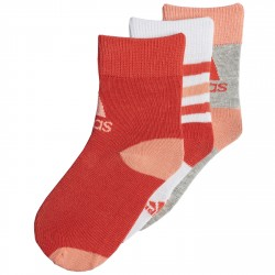 Calze Adidas Girl bianco-corallo-grigio