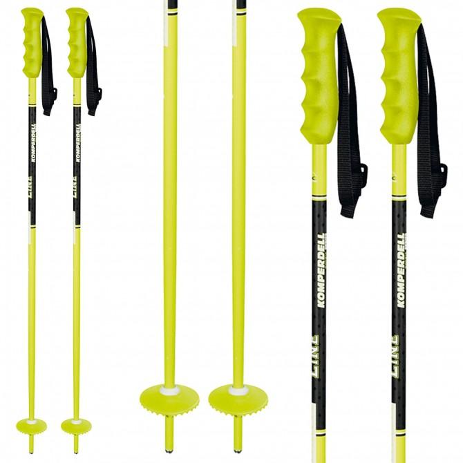 Bâtons ski Komperdell Offense Junior jaune
