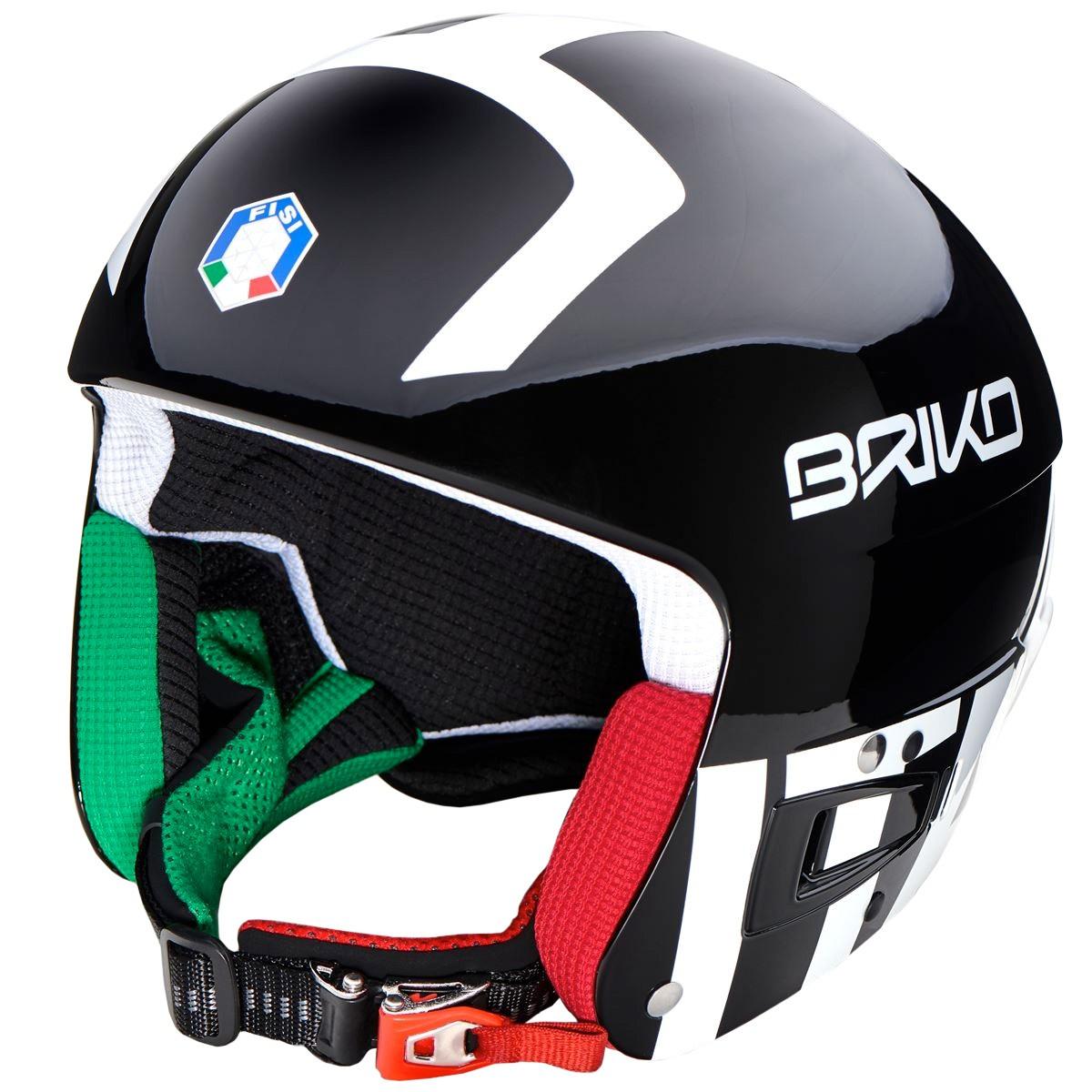Casco sci Briko Vulcano 6.8 (Colore: shiny black white, Taglia: XS)
