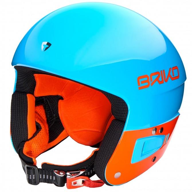 Casco esquí Briko Vulcano 6.8 Jr azul-naranja