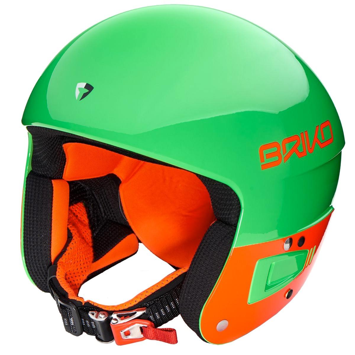 Casco sci Briko Fis 6.8 (Colore: verde-arancio fluo, Taglia: S/M)