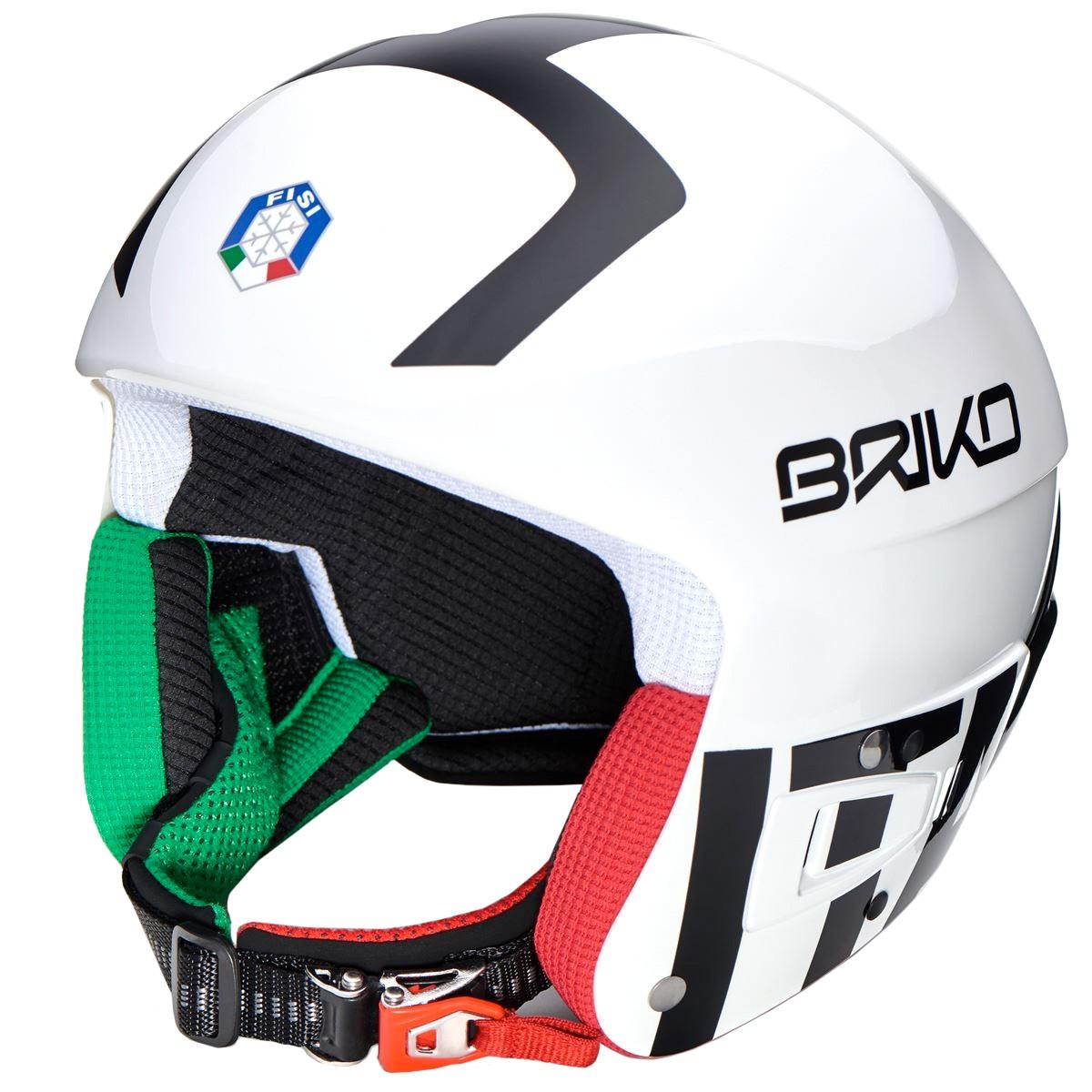 Casco sci Briko Vulcano Fis 6.8 Jr Fisi bianco (Colore: bianco-nero, Taglia: S/M)