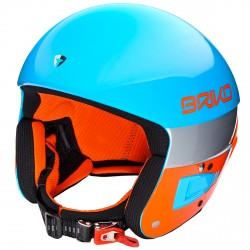 Casque ski Briko Vulcano Fis 6.8 bleu-orange