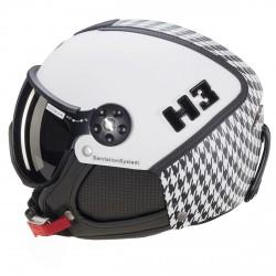 Casco sci Hammer H3 + visor bianco fantasia
