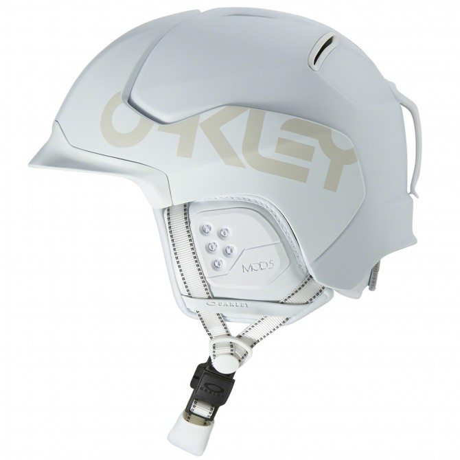 Casco sci Oakley MOD5 Factory Pilot bianco