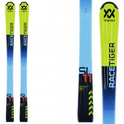 Ski Volkl Racetiger Jr Flat + fixations SL 4.5 jaune